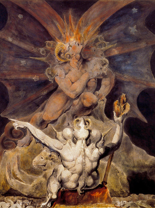 """The Number of The Beast is 666"" by William Blake, c.1805"
