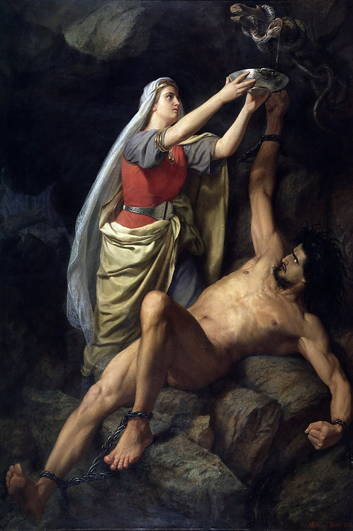 """The Punishment of Loki"" by Marten Eskil Winge, 1863"