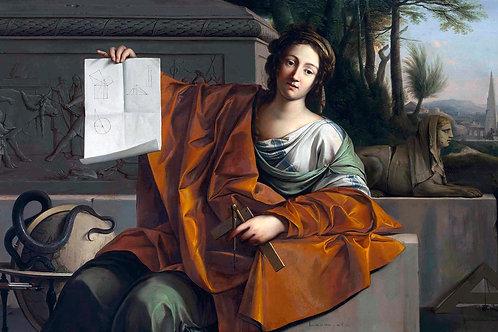 """""""Allegory of Geometry"""" by Laurent de la Hyre, 1649"""