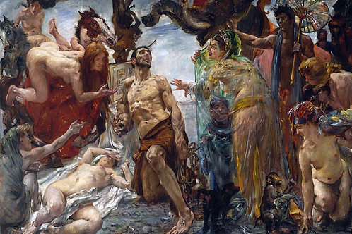 """The Temptation of Saint Anthony"" by Lovis Corinth, 1908"