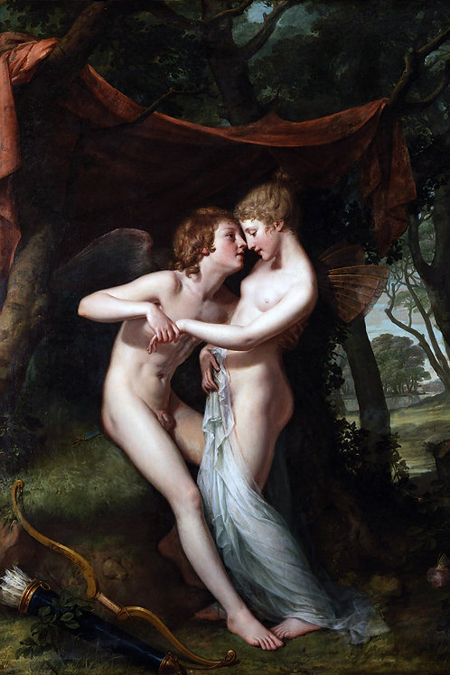 """""""Cupid and Psyche in The Nuptial Bower"""" by Hugh Douglas Hamilton, 1792"""
