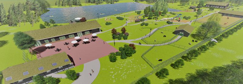 Impressie park in 3D