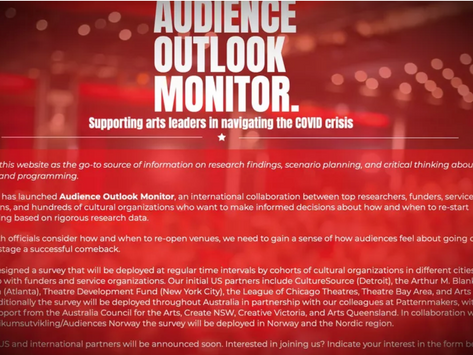 WolfBrown Announces the COVID-19 Audience Outlook Monitor