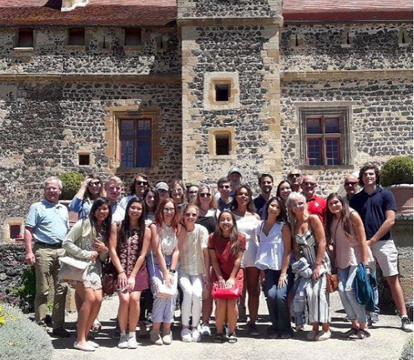 """""""Amazing day to be in France!"""" ¬Photo from the Price College program in Vichy, France."""