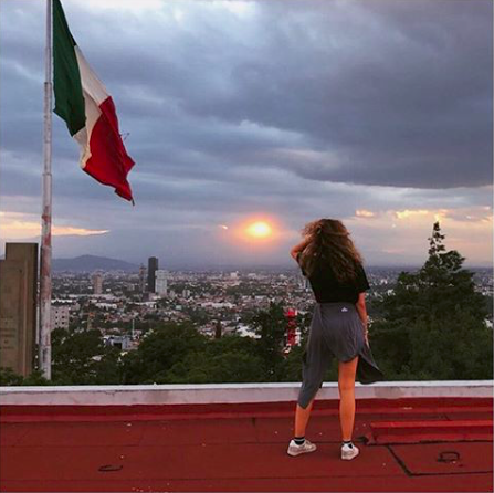 """. """"Dear Mexico, you are welcoming, colorful, and kind. You are more than I could have ever hoped for. Thanks for stealing my heart."""" Photo and caption by student Olivia Agosto, taken on the CIS program Cuisine, Arts and Culture of Mexico, OU in Puebla."""