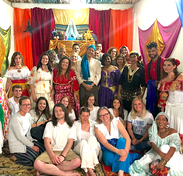 """""""The Anthropology of Religion class visited an Umbanda Temple last night and today saw the Metropolitan Catholic Cathedral in downtown Rio."""" Photo and caption by OU in Rio."""