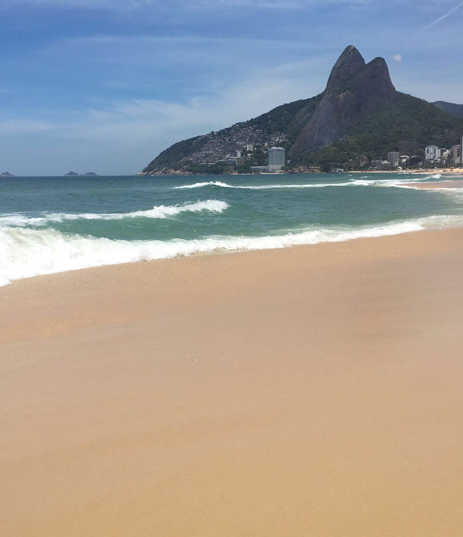 Noticing where the ocean is holding the sky in Rio de Janeiro