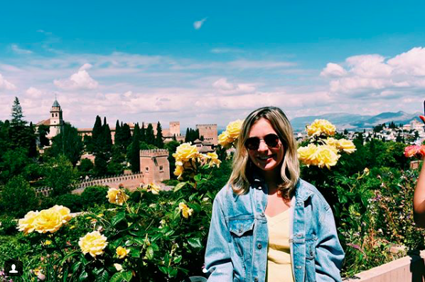 OU student Hailey Thomas, who studied in Seville, Spain for the summer with ISA, pictured at the Alhambra in Granada. Photo by Hailey Thomas.