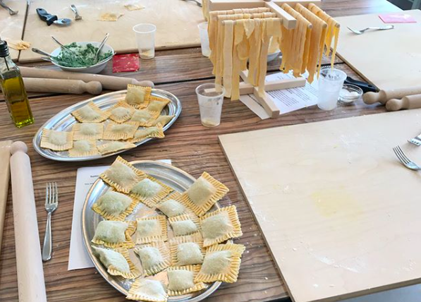 """""""Organic chemistry, Gaylord, and Price students have all enjoyed pasta-making in the last few days! Every summer program gets to enjoy this Italian experience with a local chef, Fabio, who teaches the groups."""" Photo and caption by OU in Arezzo."""