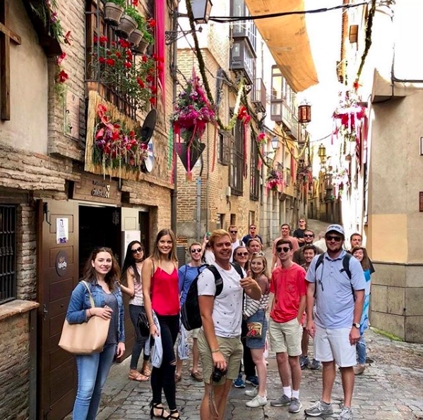 """""""Price study abroad students spent some time in Toledo, Spain this weekend."""" Photo from OU Price College of Business abroad."""