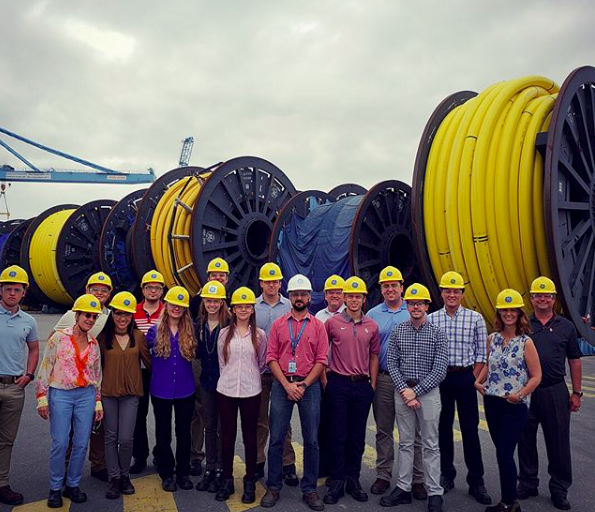 """""""The Engineers in Brazil study abroad program led by Dean Stice and Dr. Huck is here in Rio! The students are studying Petroleum Engineering and Engineering Professional Development with Rio as their classroom. So far, they have gotten to do several site visits including to G&E and Enel."""" Photo from the May-June Engineers in Rio program."""