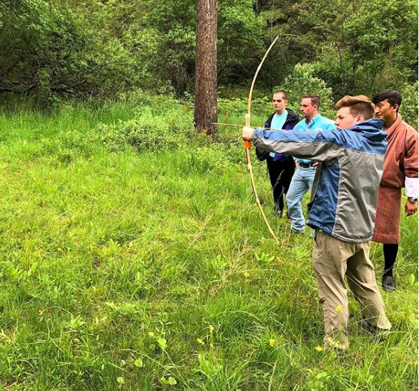 """""""We got a taste of Bhutan's national sport – archery!"""" Photo and caption by students McKenzie Cowbelk and Anne DeLong, from the CIS program Exploring Happiness: Religion and Culture in Bhutan."""