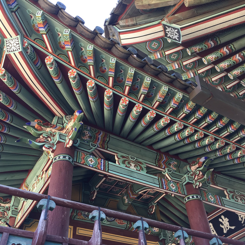 Gorgeous works of art that are Korean temples. Each building in their temple complexes is masterfully painted, with traditional colors and symbols going back throughout the centuries.