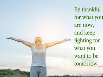 Be thankful...