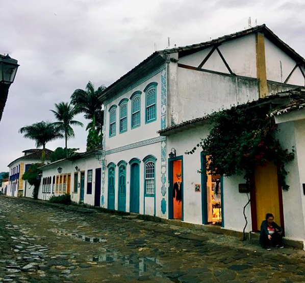 """""""Our last stop had a lot of stray dogs (who I miss) and cute buildings!! P.S. If you ever get the chance to study abroad I recommend it 12/10."""" Photo and caption by OU in Rio student Kayla."""