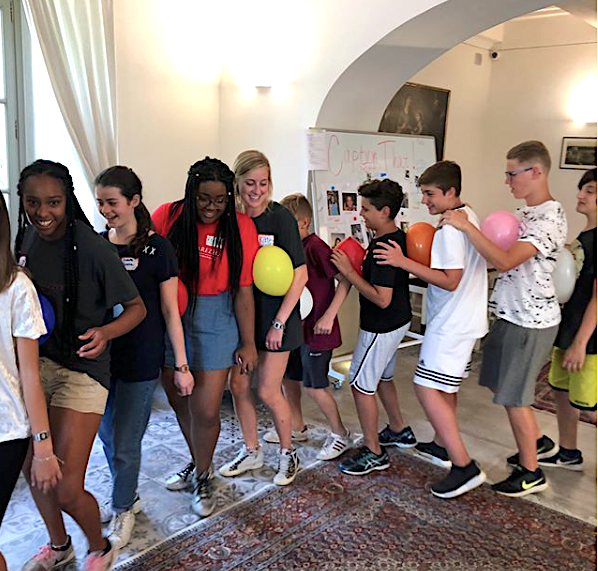 """""""It was a great first day of #ouinarezzo OUPCS summer camp for local children! They were exposed to English in all of their fun and educational activities today."""" Photo and caption by OU in Arezzo."""