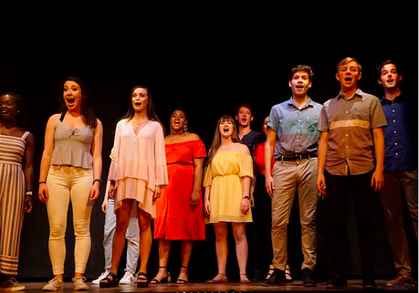 """""""Musical Theater students finished their summer program this morning and they performed a show last night to complete their time in Arezzo successfully!"""" Photo from the OU Musical Theatre program, OU in Arezzo."""