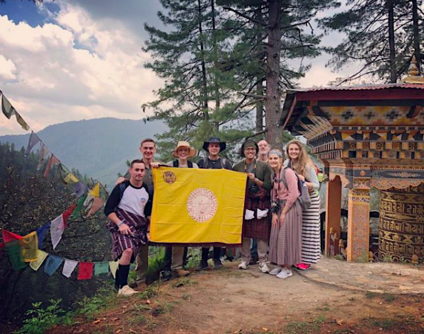 """""""Can't beat the views from the Tango Monastery in Bhutan!"""" Photo and caption by students McKenzie Cowbelk and Anne DeLong, from the CIS program Exploring Happiness: Religion and Culture in Bhutan."""