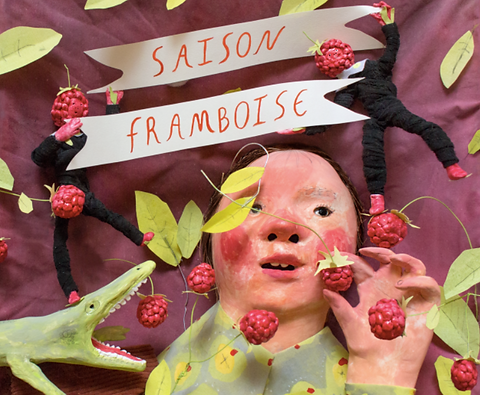 Saison Framboise Beer Label