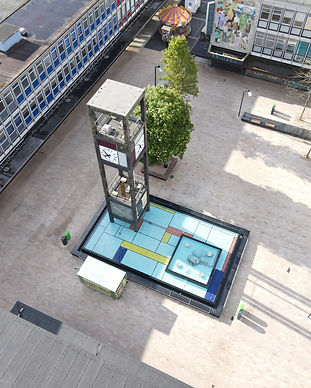 Clock tower drone photograph by Sean Lee