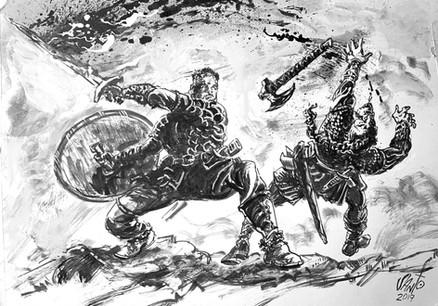 Vikings Inktober -Higgins Ink