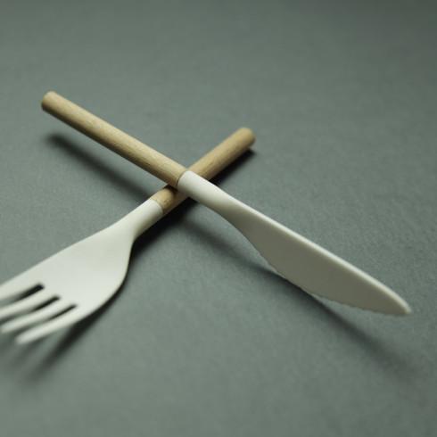 Wood + (Bio) Plastic Cutlery Set