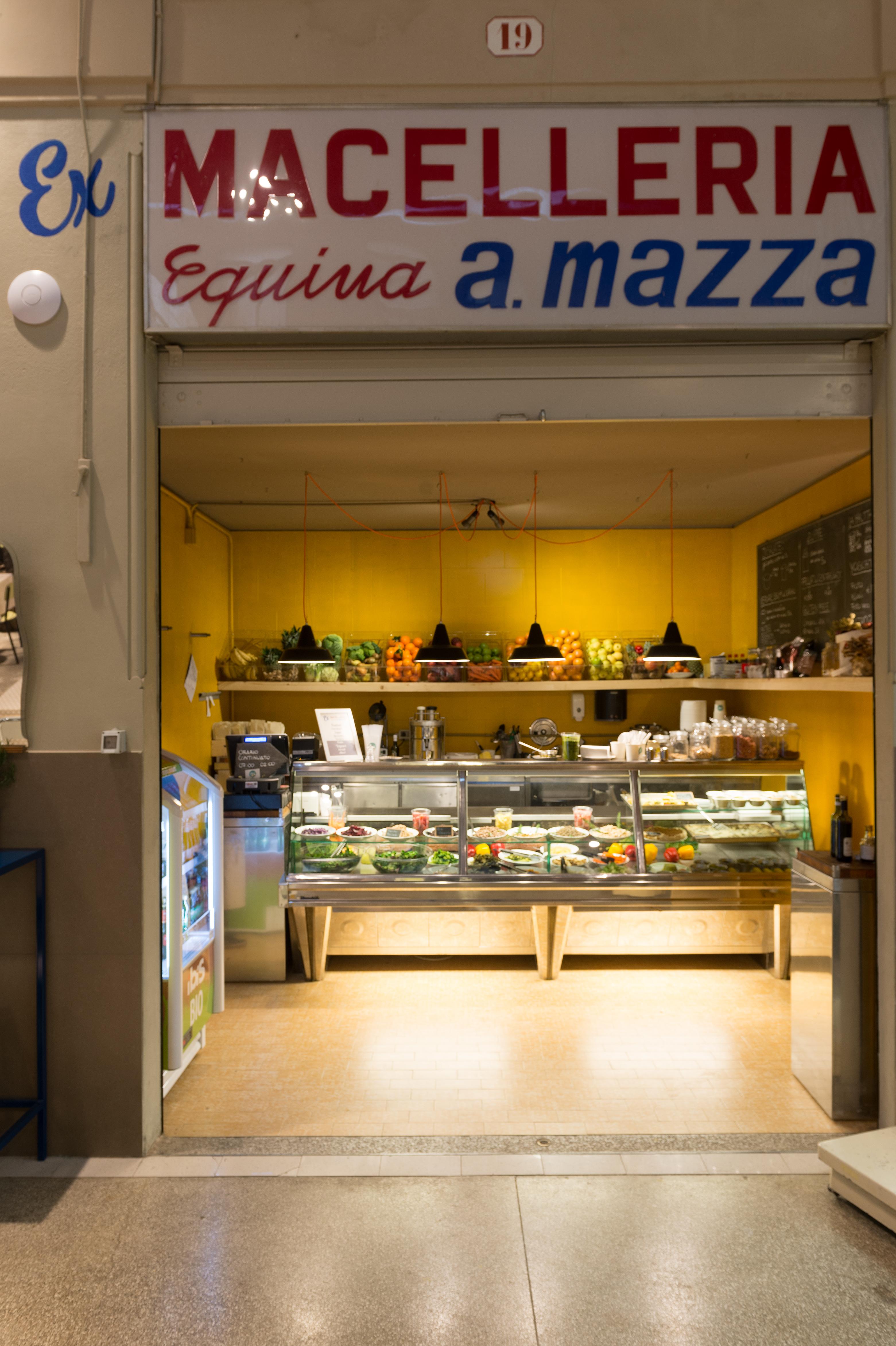 Vegetariano vegano bar mercato