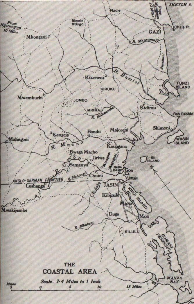 Map of Mwele Mdogo