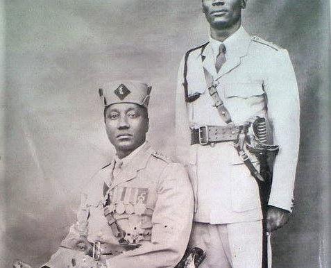DESTROYED BY FIRE - Medals of a proud African officer and Ruler go up in flames.