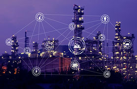 Industry 4.0 concept Oil refinery Indust