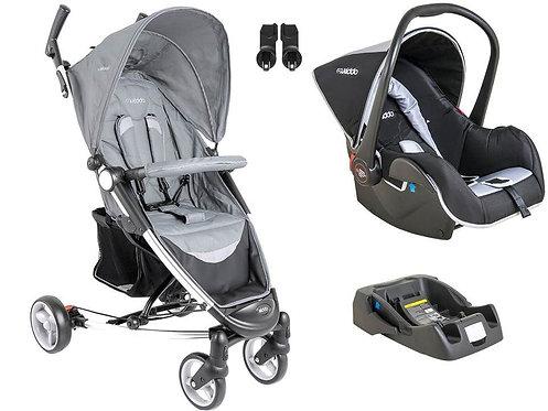 Travel System Helios com bebê conforto Casulo click Cinza - Kiddo