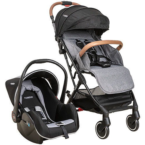 Travel System Sprint com bebê conforto Casulo click cinza - Kiddo