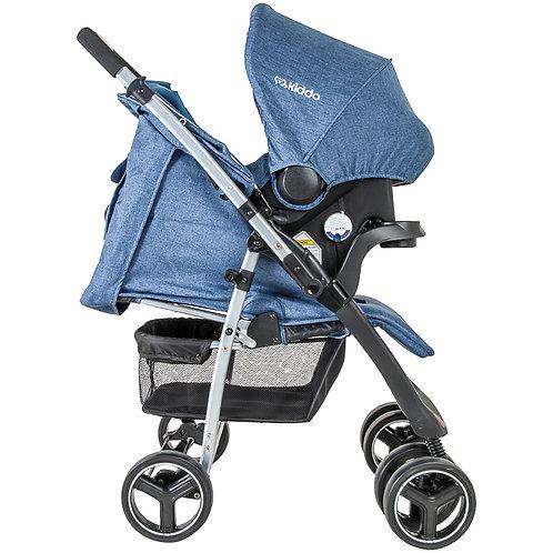 Travel System Zap com bebê conforto Nest Azul - Kiddo