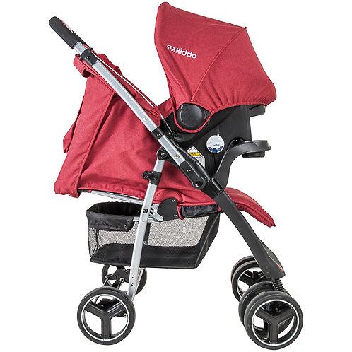 Travel System Zap com bebê conforto Nest Vermelho - Kiddo
