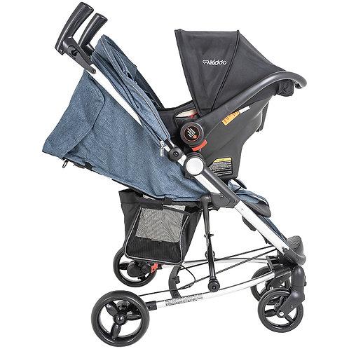 Travel System Helios II com bebê conforto Casulo click Azul - Kiddo