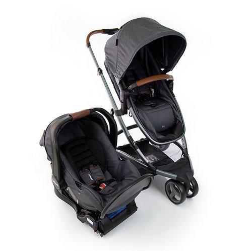 Travel System Sky Trio com bebê conforto Isofix Cinza - Infanti