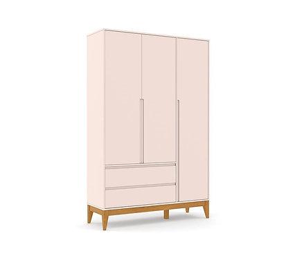 Roupeiro Nature Clean 3 portas rose - Matic Móveis