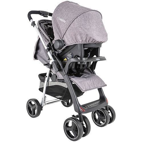 Travel System Zap II com bebê conforto Nest Cinza - Kiddo