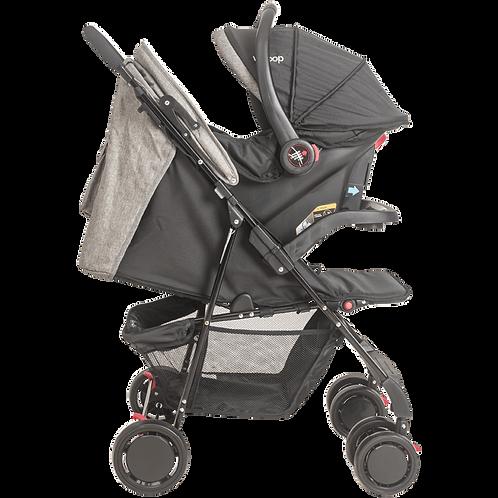 Travel System Street com bebê conforto Pod Cinza - Kiddo Whoop