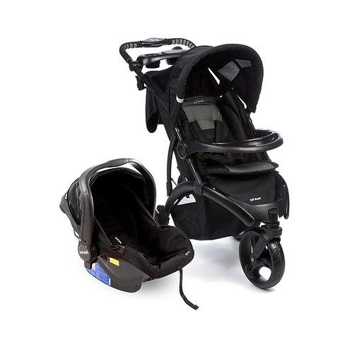 Travel System Off Road Duo com bebê conforto Isofix Preto - Infanti
