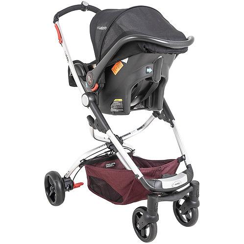 Travel System Eclipse com bebê conforto Casulo click Vinho - Kiddo