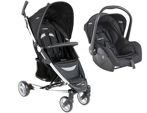 Travel System Helios com bebê conforto Casulo click Preto - Kiddo