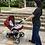 Thumbnail: Travel System Compass II com bebê conforto Casulo click Vermelho - Kiddo
