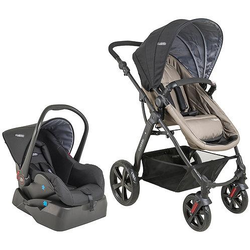 Travel System Galaxy com bebê conforto Casulo click Bege - Kiddo