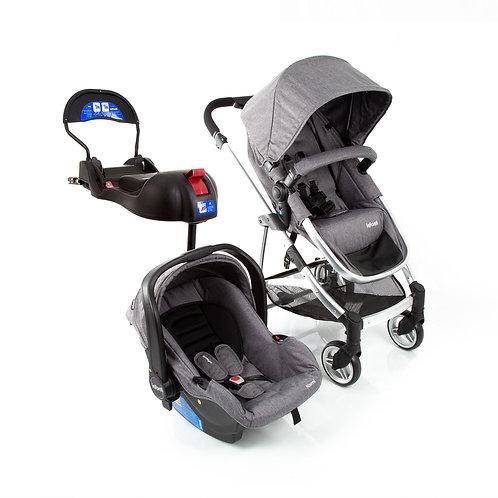 Travel System Epic Lite Trio com bebê conforto Isofix Cinza - Infanti