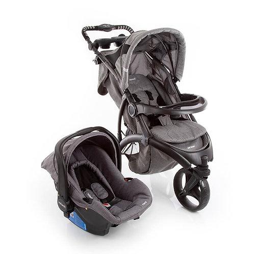Travel System Off Road Duo com bebê conforto Isofix Cinza - Infanti