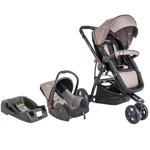 Travel System Compass III com bebê conforto Casulo click Bege - Kiddo