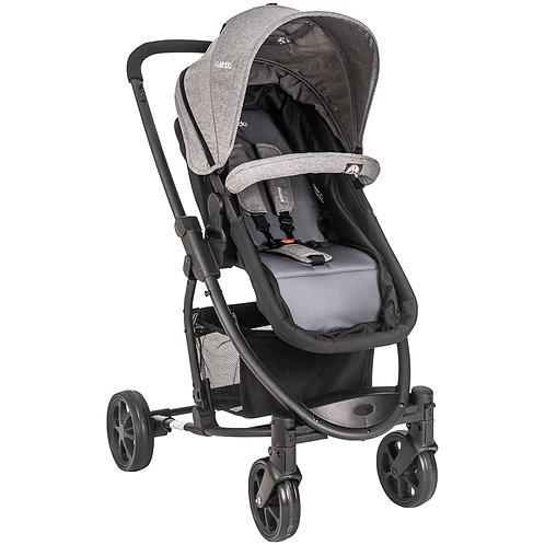 Travel System Prima com bebê conforto Casulo click Cinza  - Kiddo