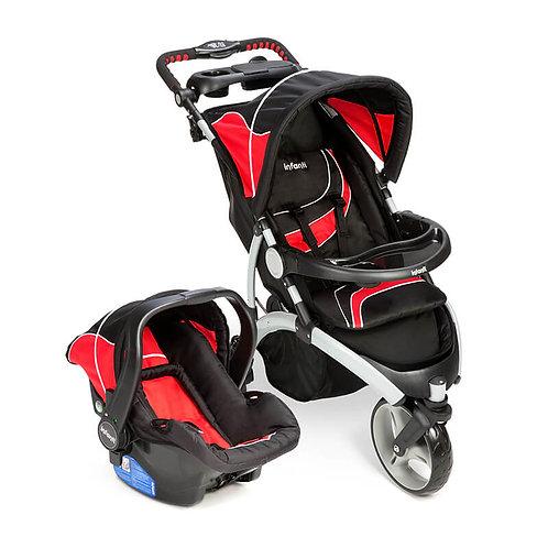 Travel System Off Road Duo com bebê conforto Isofix Vermelho/preto - Infanti