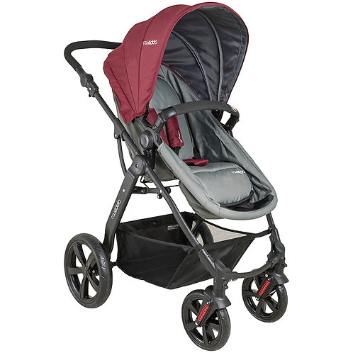 Travel System Galaxy com bebê conforto Casulo click Vinho - Kiddo